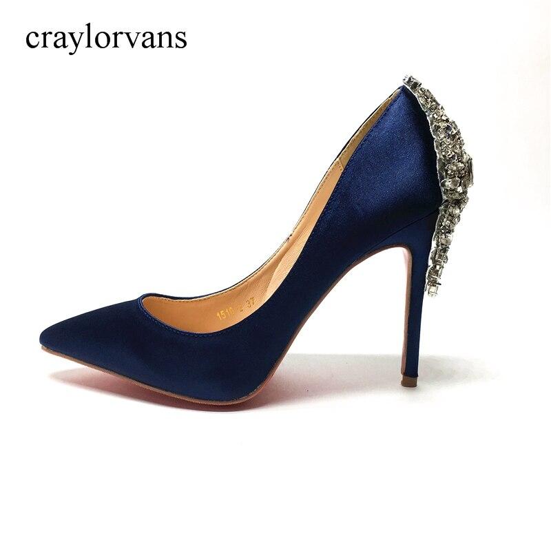 Zapatos de cuero Real LBTS volver zapatos de boda zapatos de tacón sapato para noiva sandalia deslizable para mujer Real-in Zapatos de tacón de mujer from zapatos    1