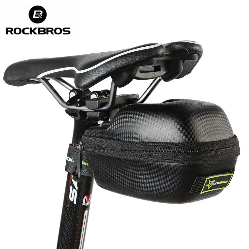 ROCKBROS Carbon Pattern Waterproof Outdoor Sports For All Bike Bicycle Tube Seatpost Bag Cycling Cycle Portable Saddle Bag Case