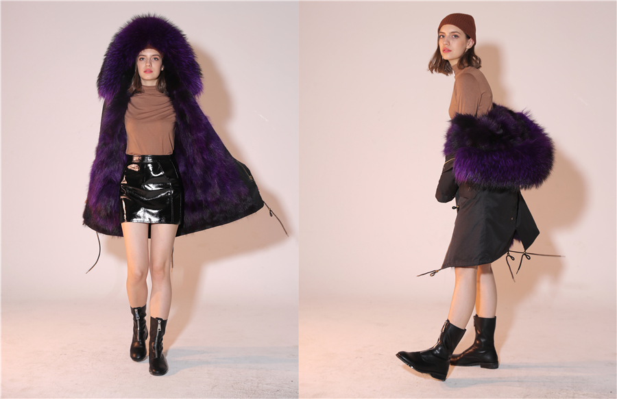 2019 Real Fur Coat Winter Jacket Women Long Parka Waterproof Big Natural Raccoon Fur Collar Hood Thick Warm Real Fox Fur Liner 51