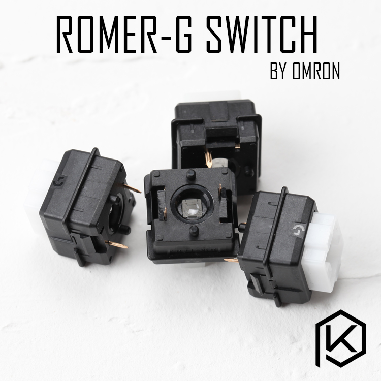 Logitech Romer-G RGB Switch Ormon Tactile Switch Low-profile Mechanical Key Switch B3K For G910 Orion Spark Black Body