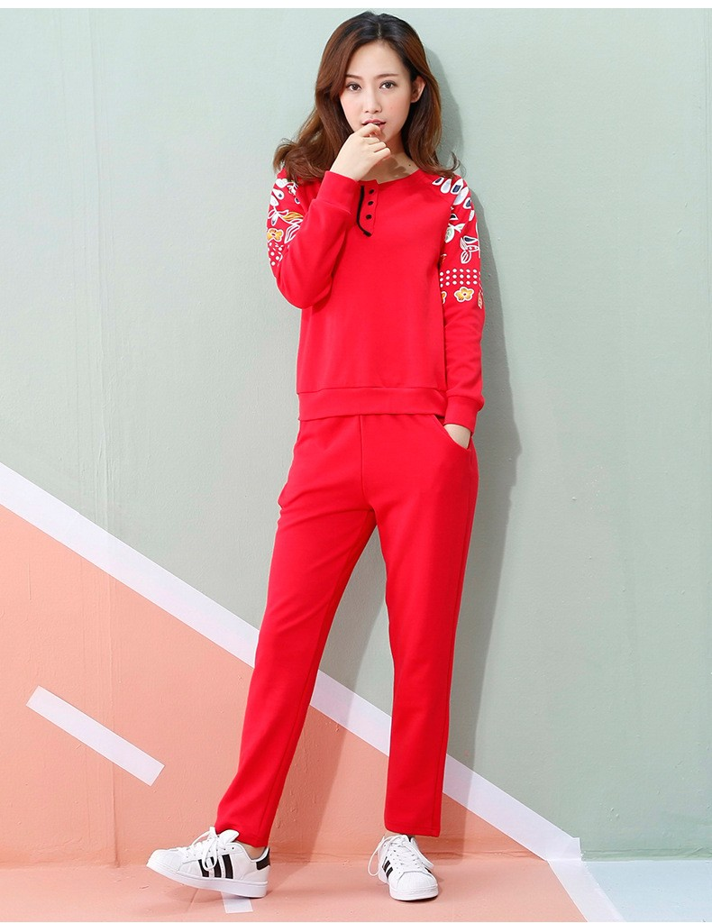 Spring Autumn Pajama Suit Home Clothes Long Sleeve Pajamas Sets Women Cotton Pyjamas Women Pyjama Femme A369