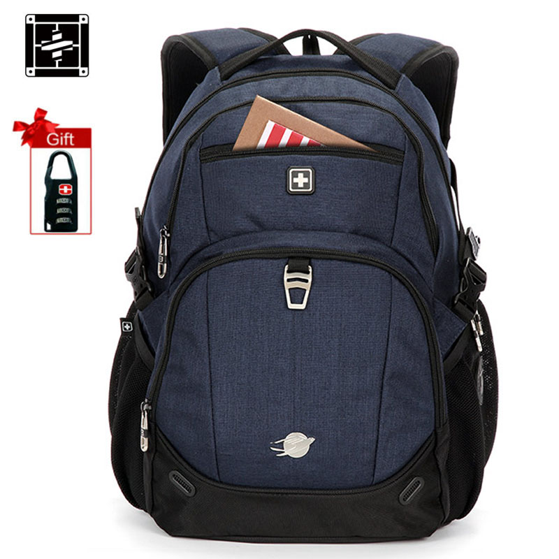 Suissewin Unisex Professional Slim Business Laptop Backpack Fashion Casual Durable Travel Rucksack Daypack Waterproof Dustproof