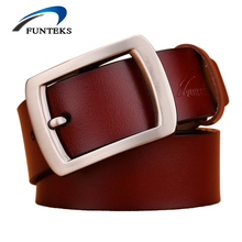 2017 Designer Vintage Belts Men High Quality Cow Genuine Leather Belts For Men Luxury Brand Strap Male Pin Buckle Jeans Belts