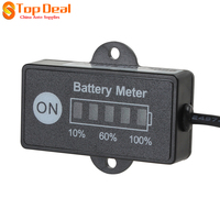 New LED Battery Indicator Level Meter Gauge 12V 24V For Lead Acid Battery