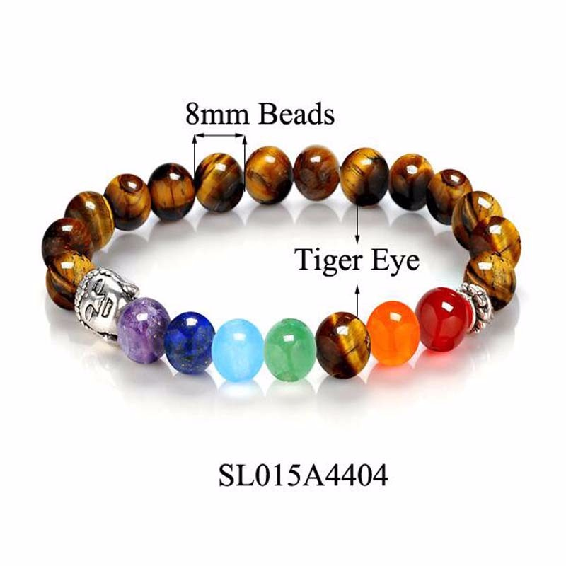 8 Colors 2018 7 Chakra Healing Balance Buddha Beads Bracelets Bangles Charm Natural Stone Bracelet Yoga Jewelry Men Women Gift 7