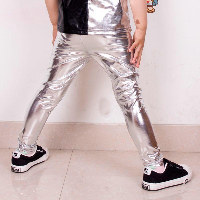 Diplomatico Capretti Di Modo D'argento Harem Hip Hop Dance Pantaloni Abbigliamento Per Bambini Della Tuta Costumi Di Prestazione Bambino Sport Pantaloni A Sigaretta Le Materie Prime Sono Disponibili Senza Restrizioni