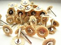30 pcs Laboratório Dental Polimento Escovas De Cabelo de Cabra Macio Branco