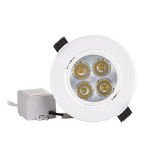 10pc Great Spot LED Downlight Dimmable 1W 3W 4W 5W 7W Recessed Light White Body 30 Degree 110V 220V Excellent Quality