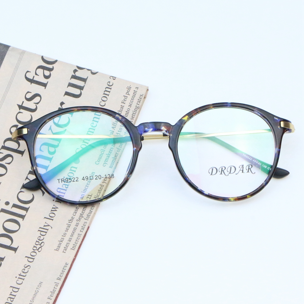 DRADR Round Retro Women\'s Eyeglasses Frames 9522 Men TR Myopia ...