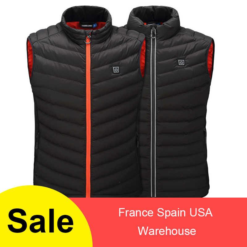 Electric Vest Heated Cloth Jacket 5V USB Warm Heating Pad Winter Body Warmer