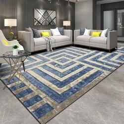 European Ins domowe dywany do salonu geometryczne dywaniki w stylu minimalistycznym dywanik do sypialni jadalnia gabinet Mat dywan Dywany Dom i ogród -