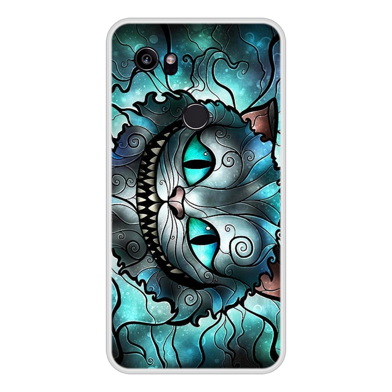 Case For Google Pixel 2 XL Soft Silicone TPU Cool Patterned Painted Phone Cover For Google Pixel 2XL Case Cover