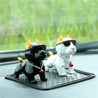 Car decoration accessories resin material creative auto dashboard cartoon geometry method cattle gift car doll ornaments