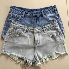 Летний новый уличная мода заусенцев отверстие стиральные джинсы короткие женщины новое прибытие джинсовые шорты