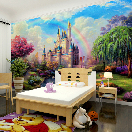 Kamer cartoon stereo behang slaapkamer woonkamer sofa eetkamer tv achtergrond behang grote muurschildering kasteel.jpg 640x640 - Kasteel Behang