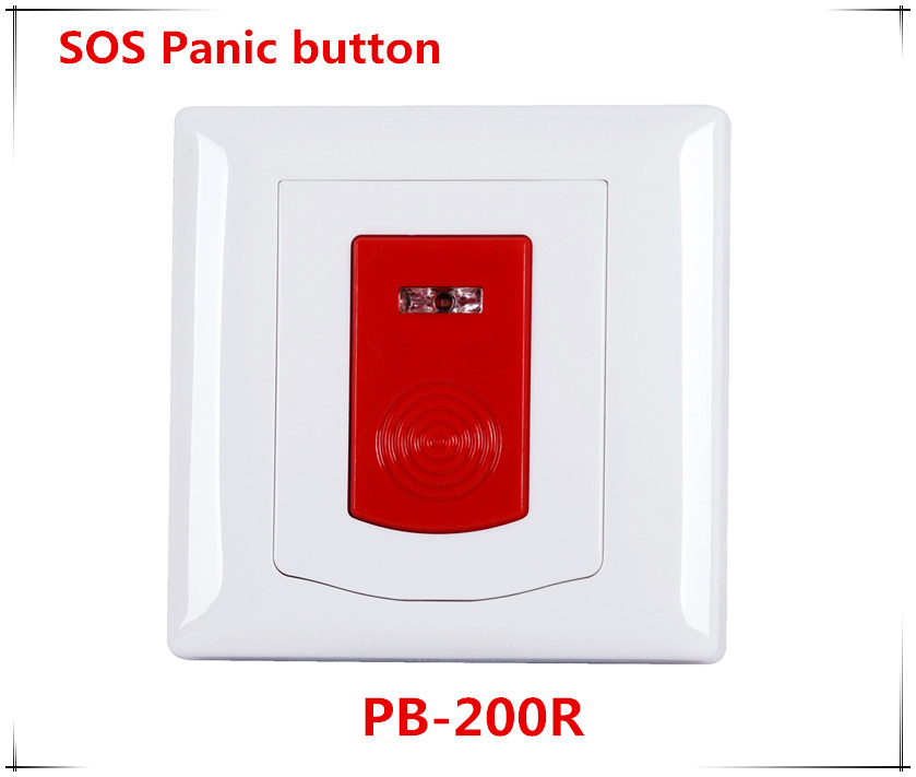 Wireless emergency panic button Indoor Wall Mounting works with ST-IIIB and ST-VGT alarm system 433mhz wirless emergency panic button indoor wall mounting works with st iiib and st vgt focus series alarm system