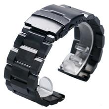 โลหะสายนาฬิกา 18 มม.20 มม.22 มม.24 มม.สแตนเลสสตีลนาฬิกาสายรัดสำหรับ Man นาฬิกาข้อมือนาฬิกาชั่วโมง + 2 สปริงบาร์
