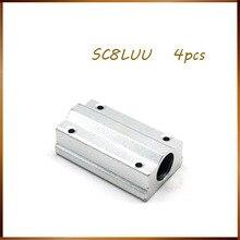 משלוח חינם 4 יח\חבילה SC8LUU SCS8LUU 8mm Bearing בלוק CNC נתב כרית עבור