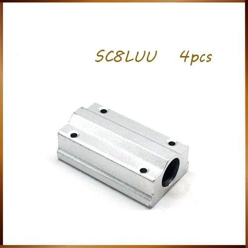 Miễn Phí Vận Chuyển 4 Cái/lốc SC8LUU SCS8LUU 8 Mm Tuyến Tính Bi Khối CNC Router Gối Dành Cho