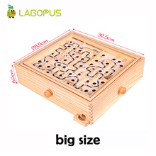 Rotary Knob Wooden Labyrinth Board Game Ball In Maze Puzzle Handcrafted Toys Children Educational Toys Rolling Beads For kids children s wooden balance game maze toys kids educational toys baby toys 2 10 years old