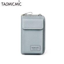 Новая модная кожаная однотонная женская сумка-клатч Милая длинная мини-сумка через плечо большая емкость телефон кошелек для монет
