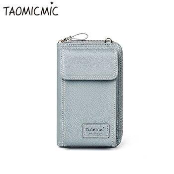 Nueva moda de cuero las mujeres bolso de embrague lindo largo Mini Crossbody bolso de gran capacidad teléfono efectivo cartera moneda monedero