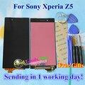 Высокое Качество Новый Сенсорный Экран Digitizer + ЖК-Дисплей Замена Для Sony Xperia Z5 5.2 дюймовый Мобильный Телефон 1980*1080 Черный Цвет
