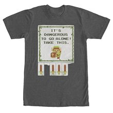 Gildan Man cheap T-shirt  Legend of Zelda Dangerous to go Alone Mens Graphic T Shirt
