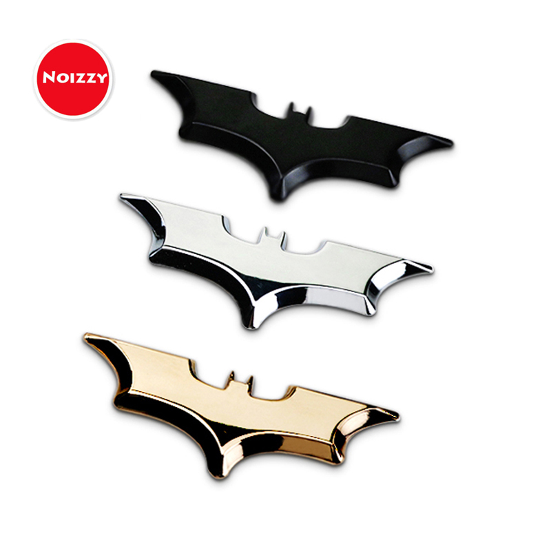 Noizzy Batman Logo New Edition Car Sticker Auto Badge Emblem 100% 3D Metal Automobile Motorcycle Gold Chrome Tuning Car Styling auto car trucks chrome letter triton badge emblem sticker for mitsubishi triton 200 logo car styling