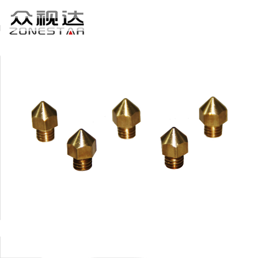 5PCS/lot 3D printer Nozzle For 1.75mm Filament Mix Sizes 0.2mm 0.3mm 0.4mm Compliant with ultimaker MK7 MK8 Reprap DIY Kit