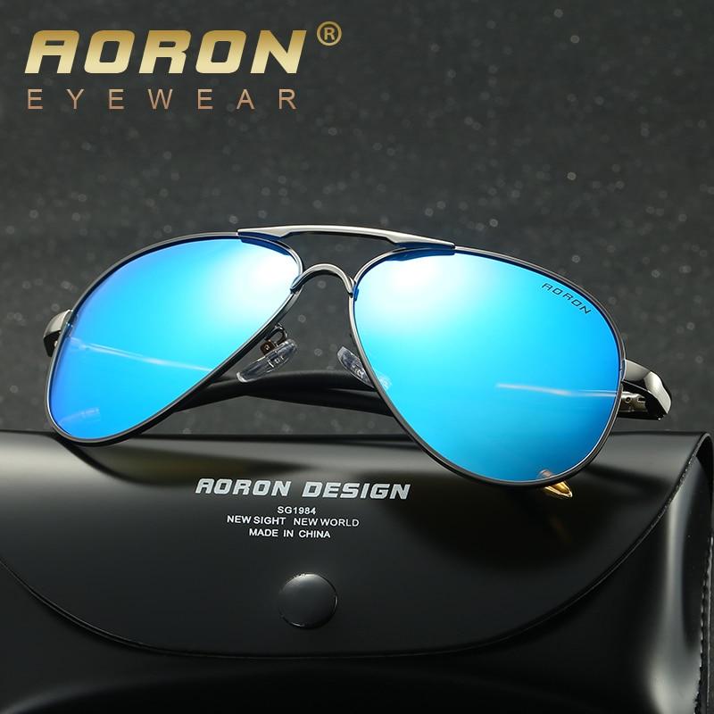 1ee345bf5 AORON Brand Best Men's Sunglasses Polarized Mirror Lens Big Oversize  Eyewear Accessories Sun Glasses For Men/Women 8503-in Sunglasses from  Apparel ...