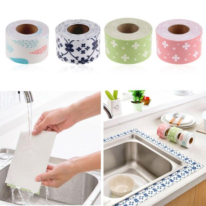 ПВХ уплотнительной ленты Ванная комната туалет Кухня стены раковина плитка Reapir Водонепроницаемый плесени Клейкие ленты