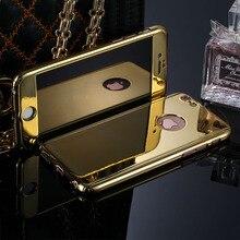 Полный 360 градусов гальванизируйте Зеркало чехол для iPhone 5 5S 6 6 S 6 Плюс 6 splus Жесткий Защитный Чехол Купить Получить Один Экран протектор