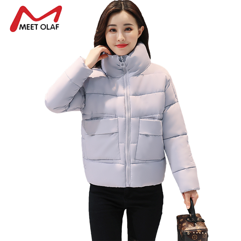 2017 Women's Down Winter Jackets Women Winter Coats Fur Hooded Female Cotton Padded Parkas Girls jaqueta feminina inverno Y1367