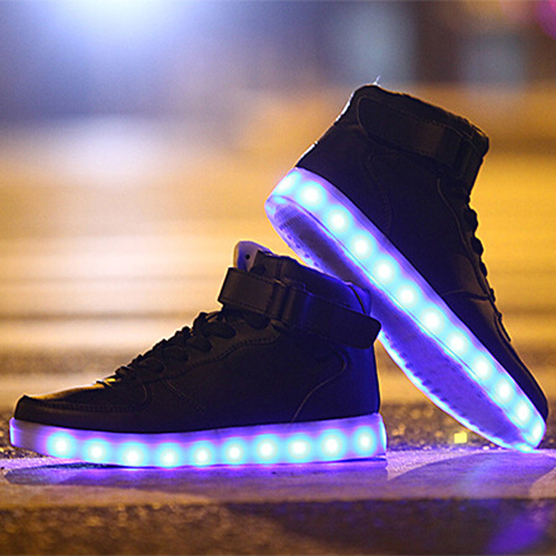 HOT! Light Up Shoes For Adults High Top Big Size Unisex Male New ...
