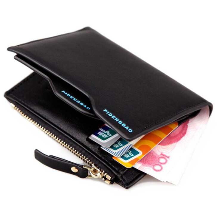 with coin bag High quality pu leather men's Wallets Wholesale short leather wallet card holders purse for men gift Free Shipping moana maui high quality pu short wallet purse with button