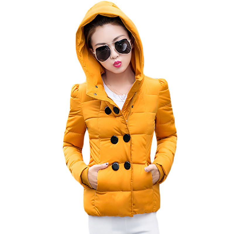 2017 New Winter Collection Women Ladies Slim Double Breasted Coat Jacket Warm High Quality Woman Short Design Parka Coat XH451 jm collection new navy single breasted coat l $99 5 dbfl
