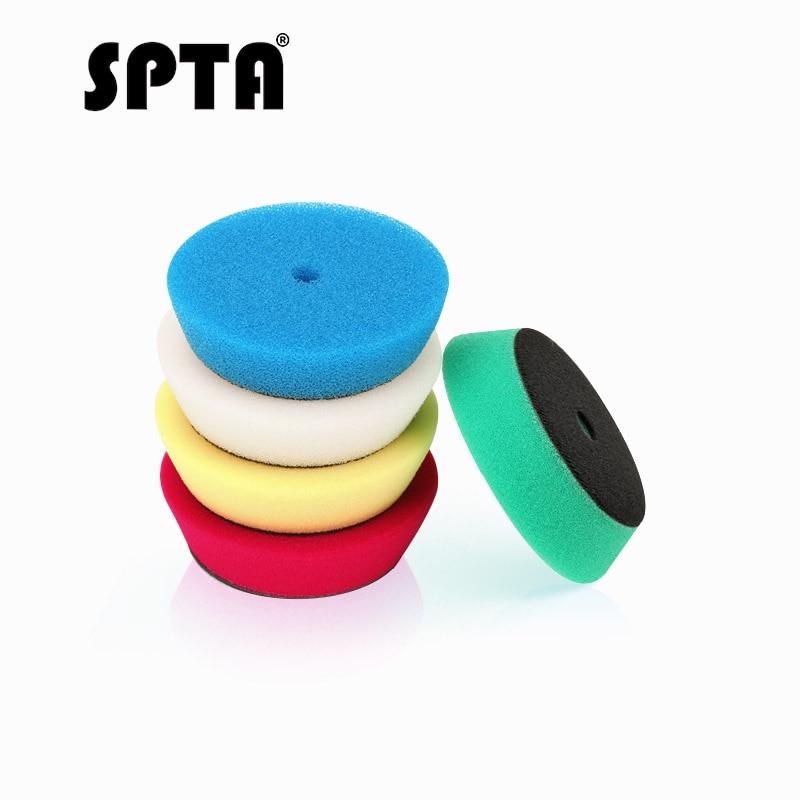 spta-5pcs-polishing-buffing-pad-4-100mm-mix-color-kit-for-3-inch-backing-ro-da-air-polisher-random-orbit-dual-action-polisher