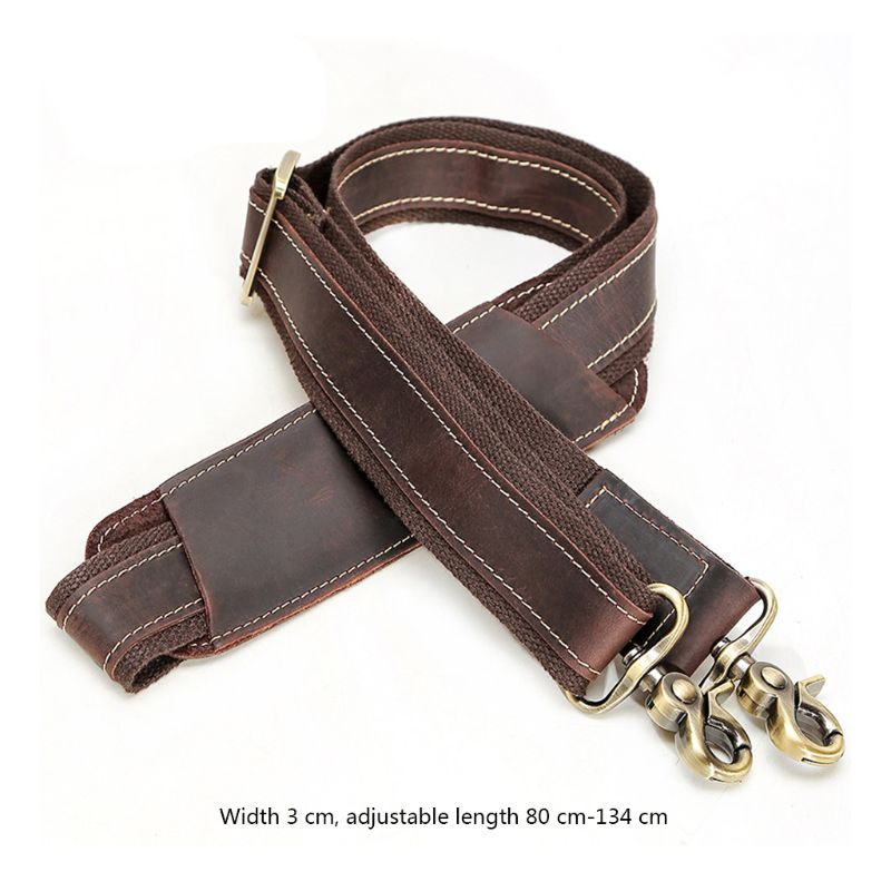 Fashion 1 Pc Vintage Leather Replacement Shoulder Bag Strap For Shoulder Messenger Bag Parts Accessories