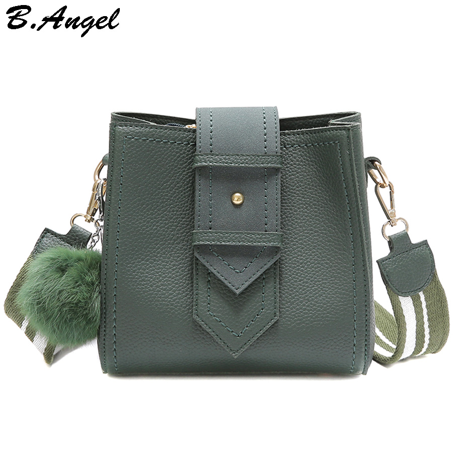 Small Messenger Bags Purse with Fur Hairy Pendant for Women Wide Strap Shoulder Bags Luxury Hasp PU Leather Cross Body Bag Purse