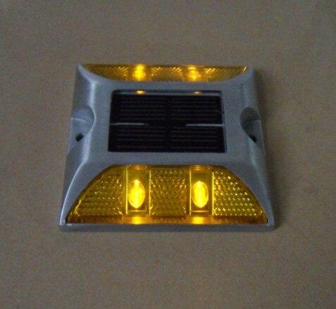 Алюминиевый сплав LED Солнечный Дорожная разметка док Pier янтарный свет