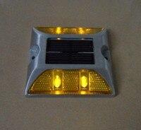 Stopu Aluminium DOPROWADZIŁY Słonecznej Stud Drogowego Dock Molo Bursztynowe Światło