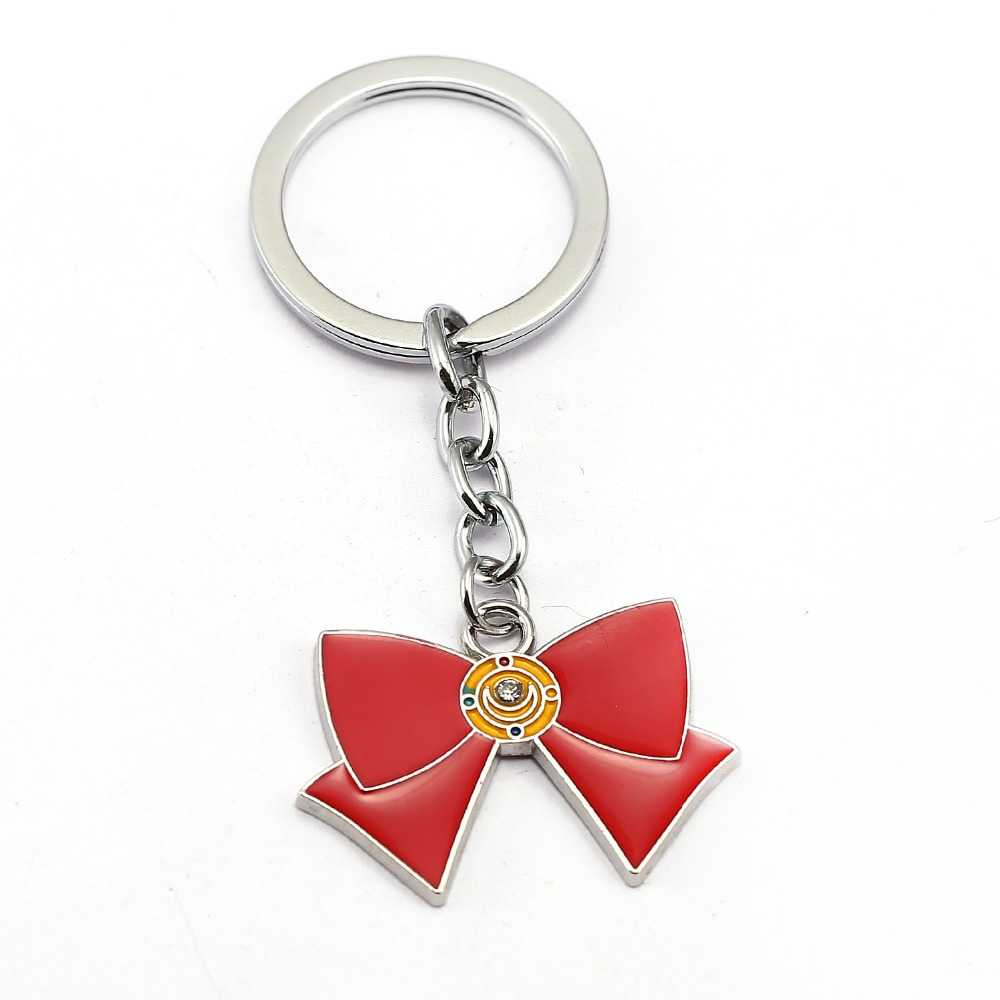 sailor moon Keychain magic wand bowknot girl Key Chain