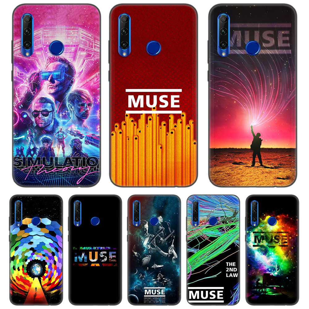 Black Soft <font><b>Silicone</b></font> Case Cover for <font><b>Huawei</b></font> Honor 8C 8X 8A 10 20 Lite Pro <font><b>Y5</b></font> Y6 Y7 Y9 <font><b>2019</b></font> Play 9X Enjoy V20 <font><b>Capa</b></font> Casos Coque MUSE image