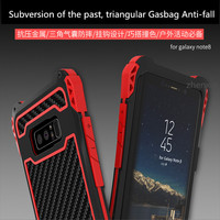 For Samsung Galaxy Note 8 Case Cover R JUST Shockproof Carbon Fiber Aluminum Metal Armor Case