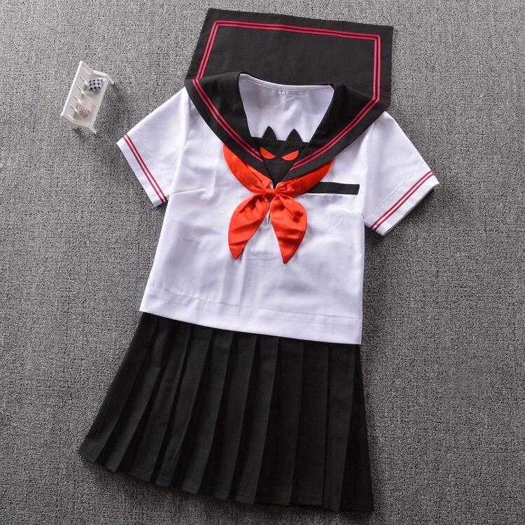Японский высококачественный костюм моряка, летний костюм Kwan West с лацканами, маленький дьявол, костюм с короткими рукавами - Цвет: 1 Set