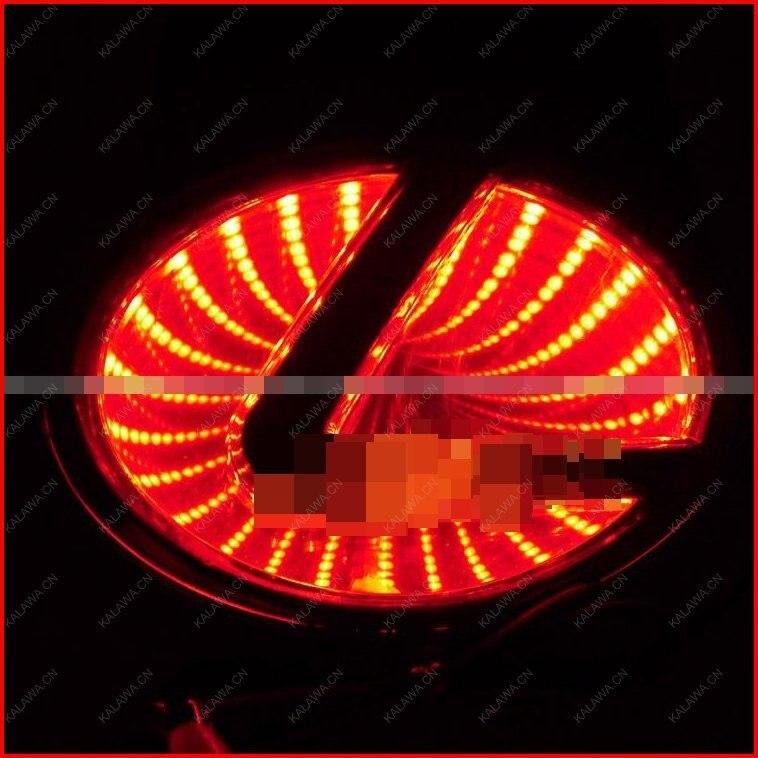 BIG LOGO(10.5cmx 6.8cm) 3D laser LED emblem car badge 3D logo light rear light Replacement Case For lexus SG300 GGG FREESHIPPING 1 piece car sticker styling waterproof 4d led el cold light badge logo emblem lamp for suzuki swift alto