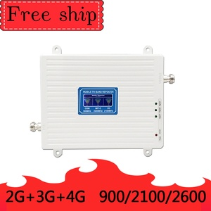 Image 2 - 900/2100/2600MHZ GSM WCDMA LTE 2G 3G 4G Cell Phone Signal Booster  70db Gain 2G 3G 4G LTE 2600mhz Repeater Cell Phone Booster