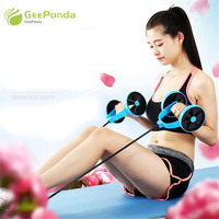GeePonda Thicken Mat Latex Rope Ab Roller Wheel Abdominal Exercise Muscle Trainer Fitness Equipment for Home Gym ABS Workout Kit