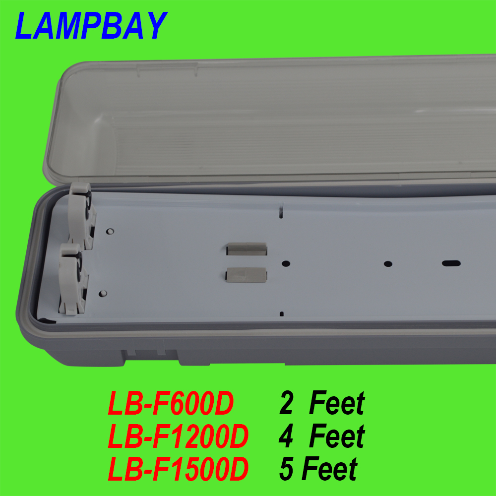10 Pack Free Shipping 2ft 4ft 5ft T8 T10 LED tube fixture double row waterproof